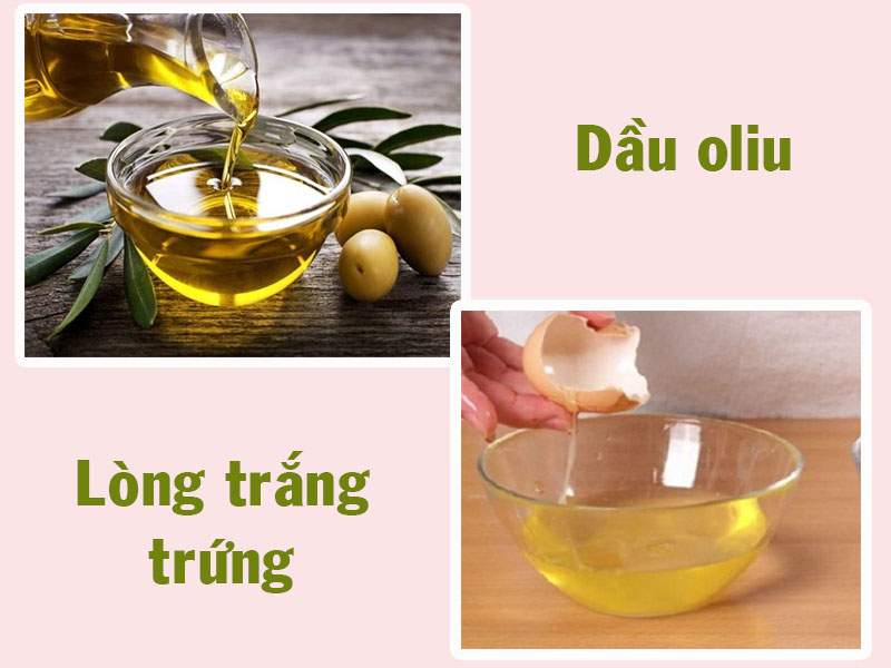 Mặt nạ lòng đỏ trứng gà và dầu oliu