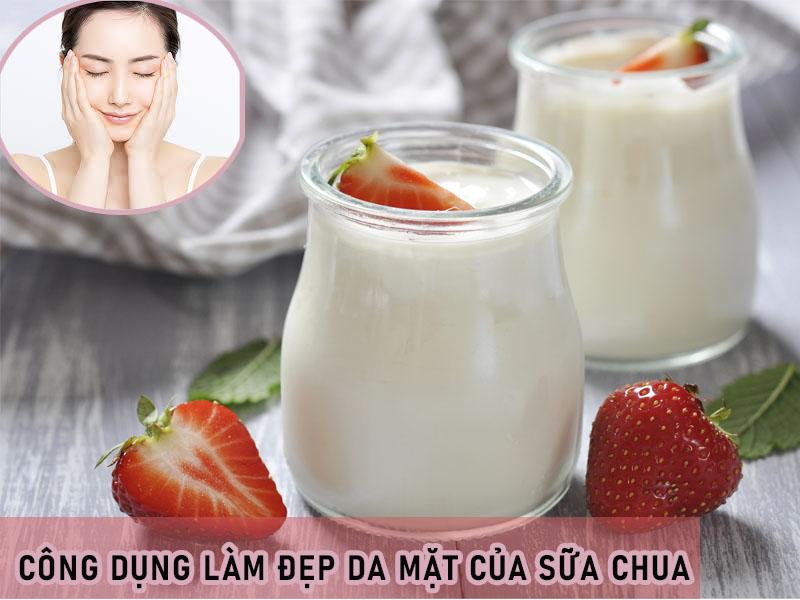 Công dụng làm đẹp da mặt của sữa chua