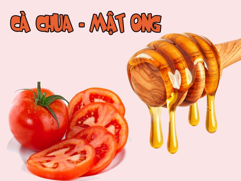 Cà chua kết hợp mật ong rất hiệu qua tronglàm đẹp