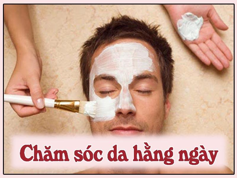 Hình ảnh: chăm sóc da mặt hằng ngày ở nam giới
