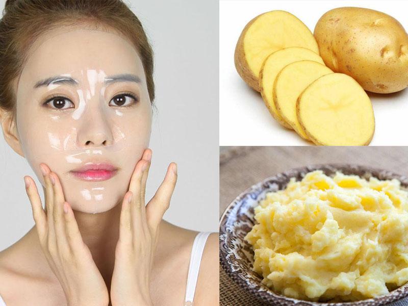 Làm đẹp da mặt bằng khoai tây nguyên chất