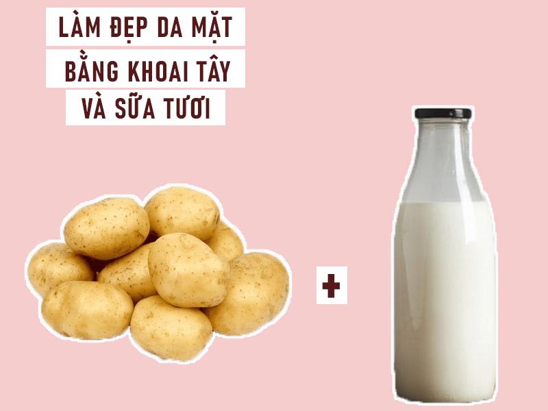 Làm đẹp da mặt bằng mặt nạ khoai tây và sữa tươi