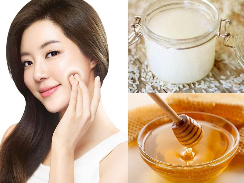 Mẹo làm đẹp da mặt từ nước vo gạo kết hợp mật ong