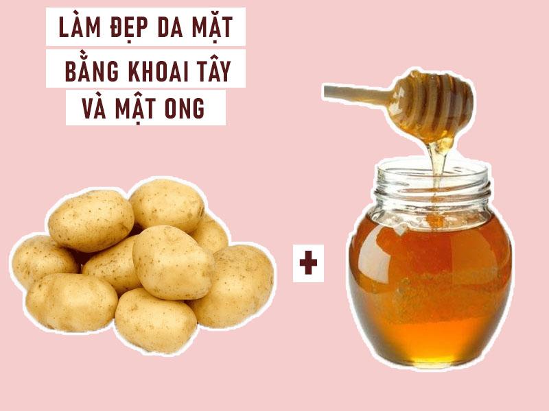 Mặt nạ khoai tây và mật ong giúp làm đẹp da