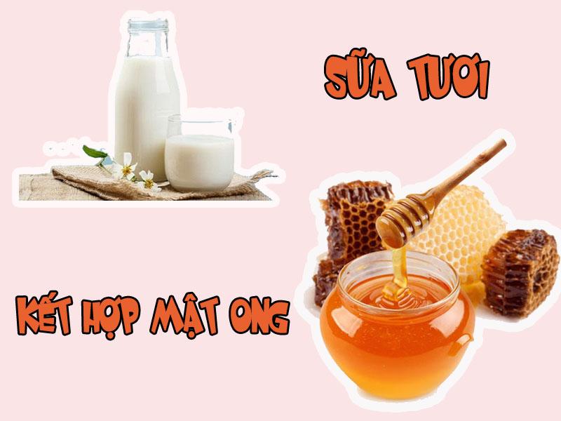 Mật ong kết hợp sữa tươi làm đẹp hiệu quả
