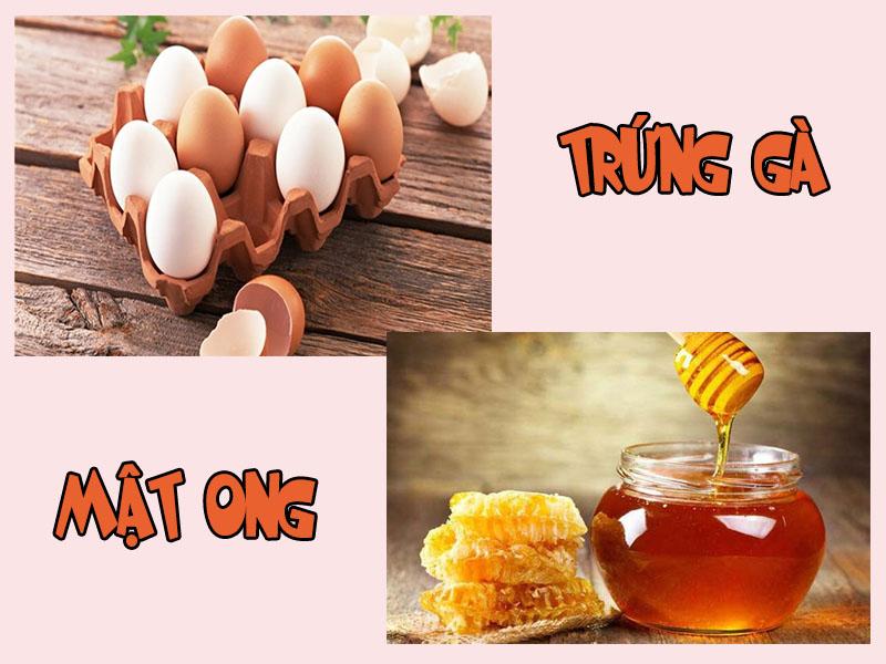Trứng gà và mật ong là những nguyên liệu quen thuộc trong làm đẹp